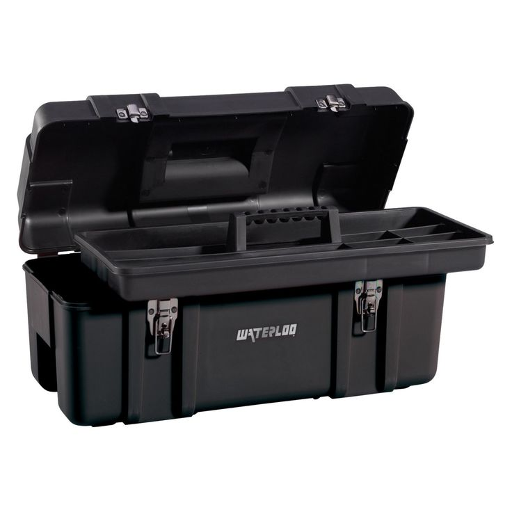 Waterloo 23.5 in. Plastic Tool Box - PP-2310BK
