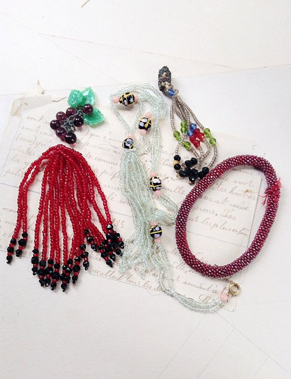Vintage and Antique Beaded Tassels and by MyVintageSupplies