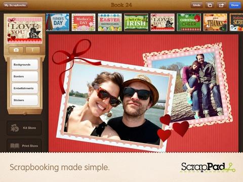 Personaliza tus álbums de fotos con ScrapPad para iPad | SoloApp