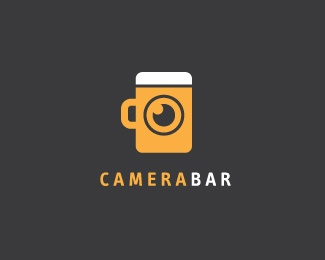 "This logo is very creative. If the text ""Camera Bar"" was taken away, you could still recognize the business just by looking at the illustration."