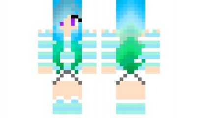 minecraft skin Ocean-Girl Find it with our new Android Minecraft Skins App: https://play.google.com/store/apps/details?id=studio.kactus.minecraftskinpicker