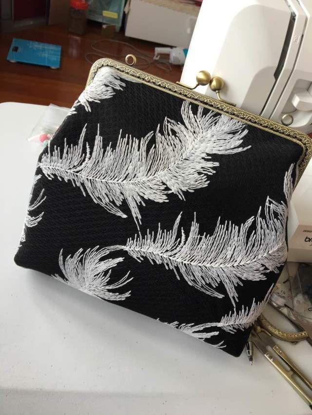 DIY ручной работы ткань черная сетка кружева растворимы вышивка полые белые…
