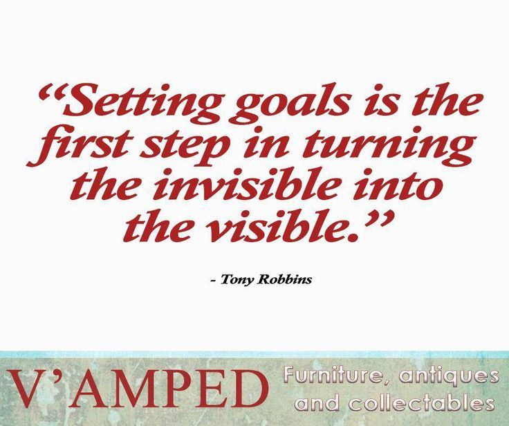 """Setting goals is the first step in turning the invisible into the visible."" - Tony Robbins #SundayMotivation #VampedFurniture"