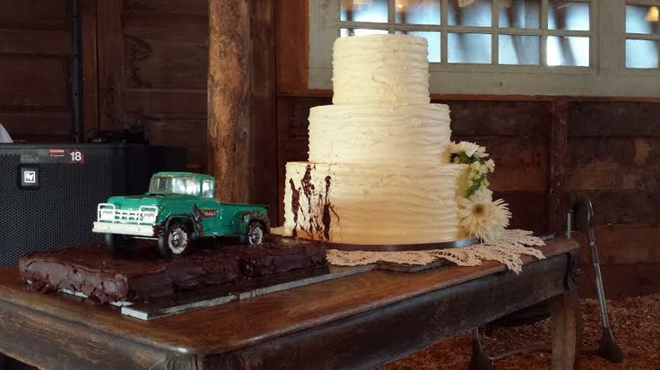 Stuck in the mud/ wedding cake