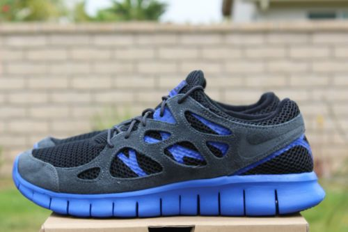 Nike Free Run 2 Ext Sz 12 Black Hyper Blue Plus 2 II 555174 044 | eBay