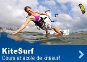 Une école de kitesurf : Apprenez le kite facilement, sur des spots adapté et en toute sécurité.