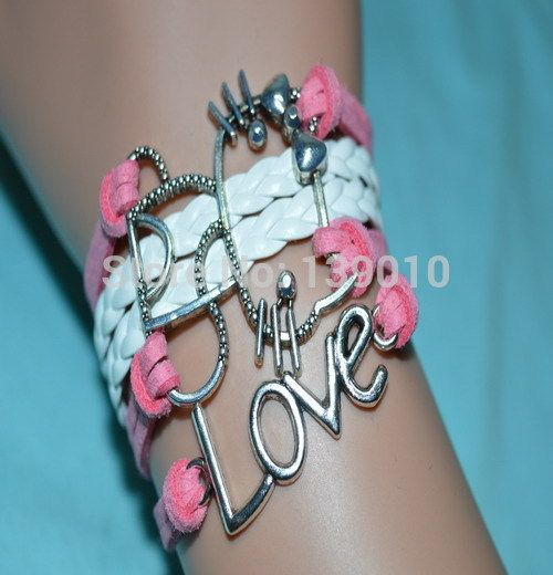 Старинное серебро белый розовая кожа замша привет котенок символ любви манжеты браслеты браслеты высокое качество уникальный женщины бижутерия