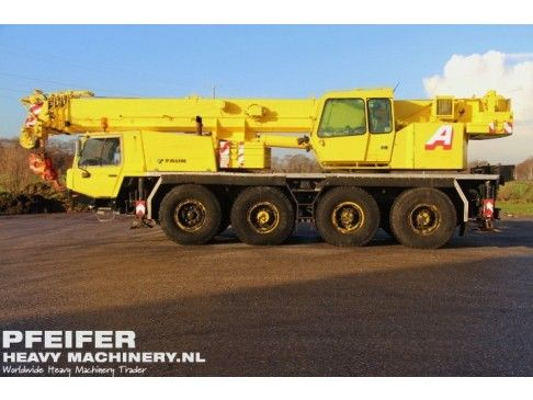 Used telescopic crane available at Pfeifer Heavy Machinery. Item Number PHM-Id 06014, Manufacturer FAUN, Model ATF 60-4 Year of construction 1998, Kilometers 155042, Hours carrier 6073, Hours superstructure 15579, Loading (lifting) capacity (kg) 60000, Boom length maximum (m) 40, Fuel Diesel.