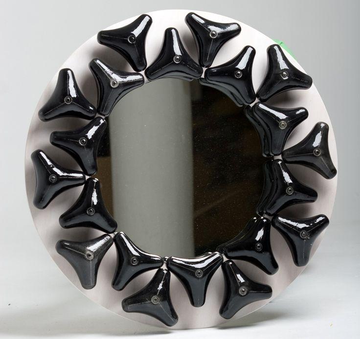 Black Round Element Mirror