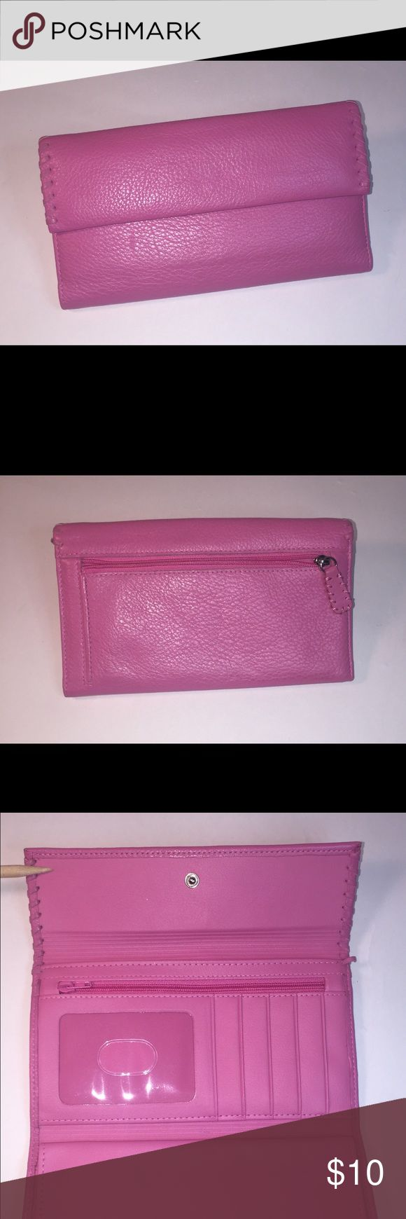 Buxton Wallet with Checkbook Insert Never used, wallet wit 2 zippered compartments, 5 credit card slots, checkbook and pen holder. Bags Wallets