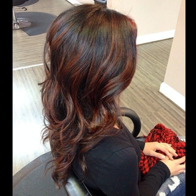 Auburn Balayage I Think The Hair Color Is Too Dark But