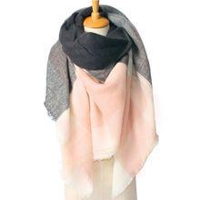 Za de natal cachecol inverno quente Cashmere Houndstooth da manta de Tartan xale de dupla face(China (Mainland))