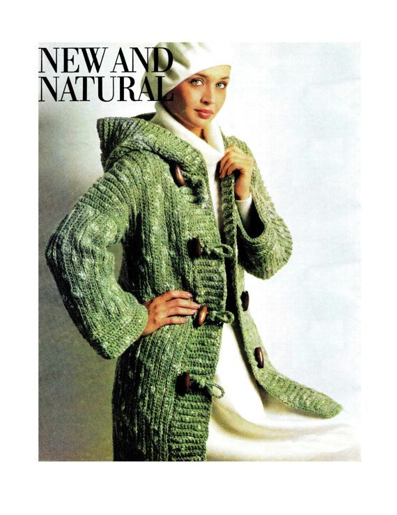 Vintage 70s Crochet  Hooded ENGLISH Duffle Coat  by KinsieWoolShop, $3.20