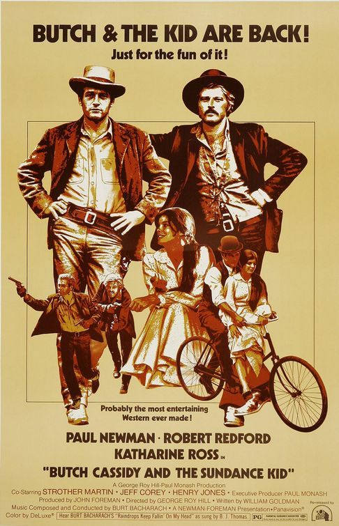 """""""Think you used enough dynamite there, Butch?"""" Special movie for my family - my parents saw it on their very first date way back in 1969 <3"""
