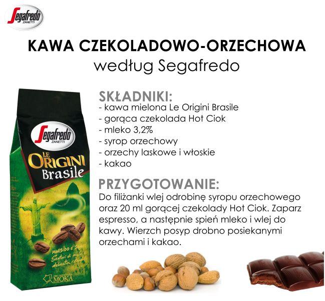 Dziś serwujemy słodko-orzechową propozycję :) Kawa Le Orgini Brasile o miodowej nucie doskonale skomponuje się z gorzką czekoladą i orzechowym syropem.#KlubSegafredo #KawaCzekoladowoOrzechowa #HotCiok #LeOrginiBrasile #JesiennaKawa #PrzyprawyDoKawy #DodatkiDoKawy