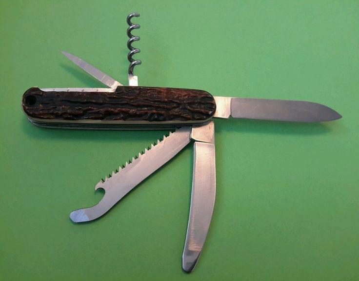 Victorinox Hunter. Swiss Army Knife. Schweizer Taschenmesser. Hischhorn Imitat. | eBay