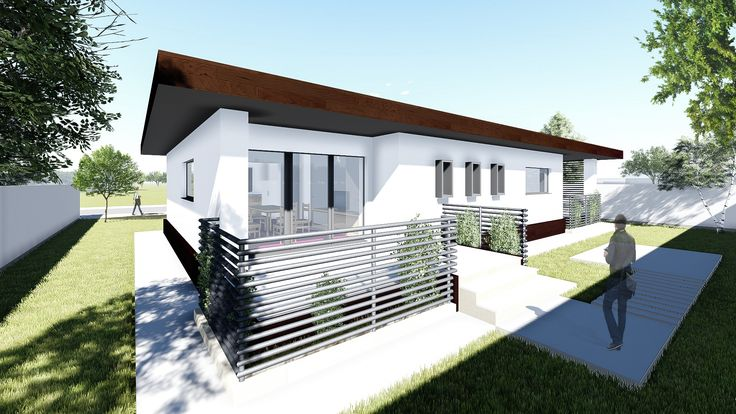 Proiect casa EDGIO. Parter | 2 camere | 79mp. Mai multe detalii gasiti aici: http://uberhause.ro/proiect-casa-parter-79-m2-edgio