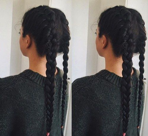 Best 25 two french braids ideas on pinterest two dutch braids welcome to the dark side 40 gorgeous brunette hairstyles two braid ccuart Image collections