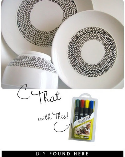 Porcelain paint pens for dishes