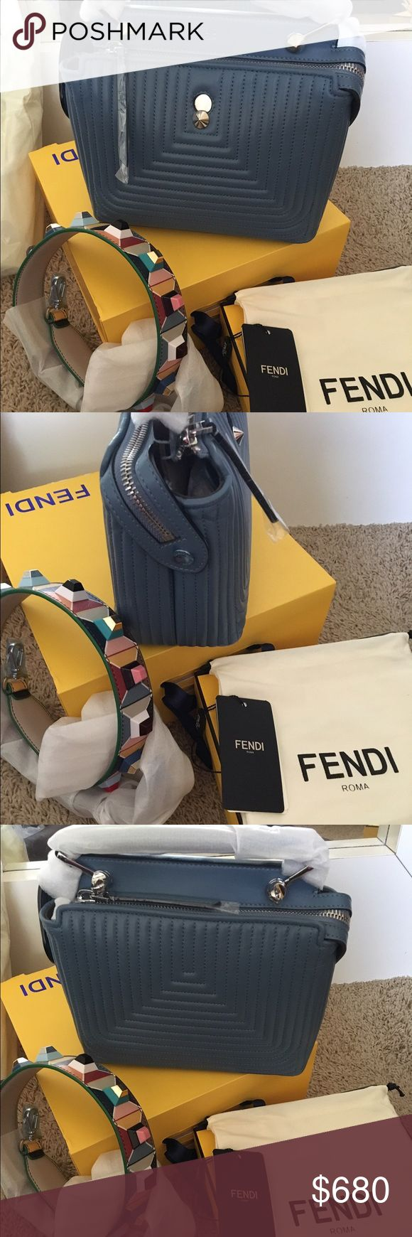 Faux Fendi Click Dot Com Small Quilted Bag 2017 Hi I am selling my Fendi Click Dot Com Bag with fendi studded bag strap from the spring/summer collection . Only local meet ups within the Atlanta, Georgia metro area can meet at the mall of ga.  Thanks Fendi Bags Satchels