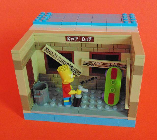 geraumiges wohnzimmer gag simpsons inspiration pic oder dbdaccffebc bart simpson lego building