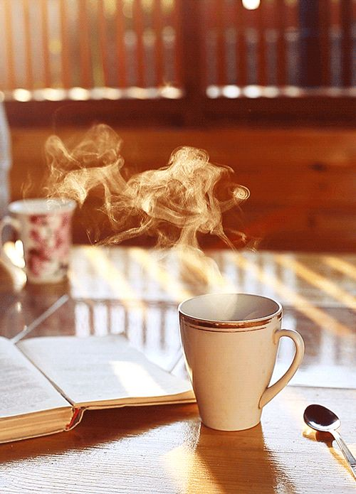 ☺ I offered you a coffee to warm you up!