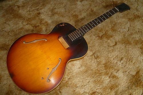 for sale on ebay 1958 vintage gibson es 125 t archtop guitar project guitars stuff. Black Bedroom Furniture Sets. Home Design Ideas