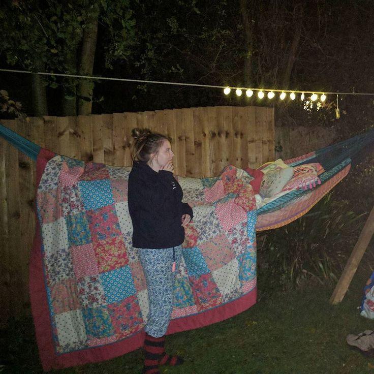 Why sleep indoors when you have a hammock?
