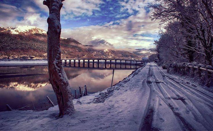 Afon Mawddach, Penmaenpool, Snowdonia, Gwynedd, Wales, UK 07.02.18 (W002 131)