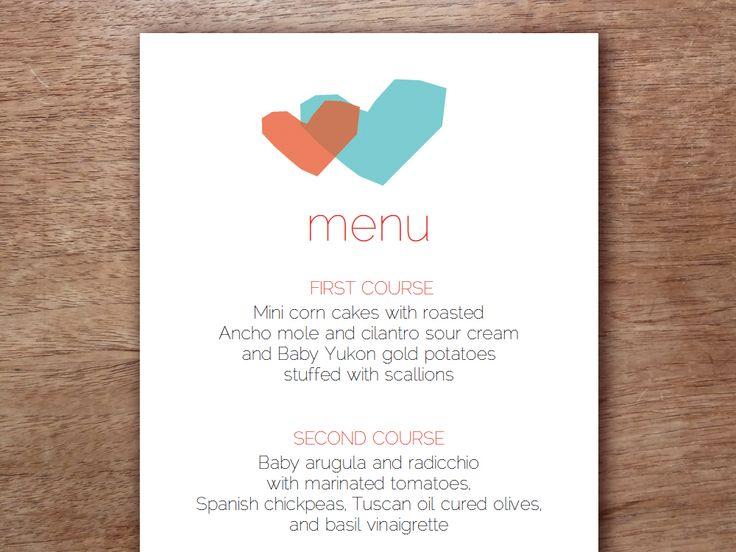 25+ best ideas about Wedding Menu Template on Pinterest   Wedding ...