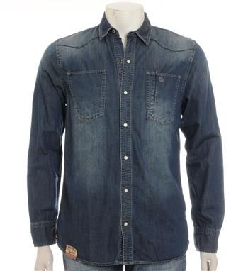 PME Legend Bare Metal soepel denim overhemd - Denim - NummerZestien.eu