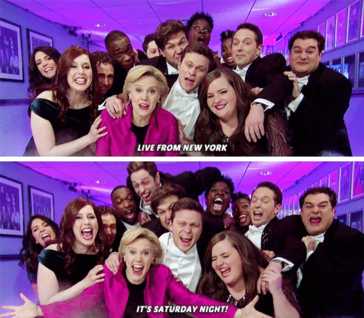 WHEN THE WHOLE SQUAD SAYS LIVE FROM NEW YORK TOGETHER I GET EXTREMELY EMOTIONAL I FRICKIN LOVE THESE PEOPLE SNL IS AMAZING