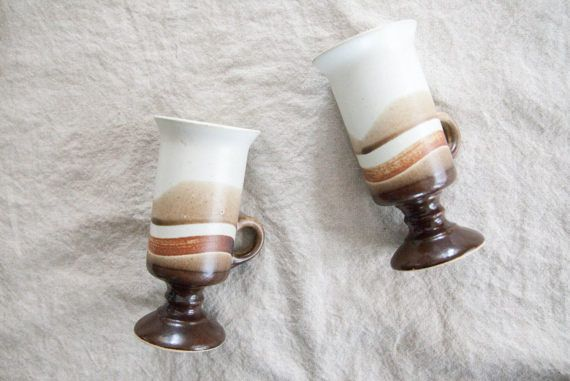 Pair of Vintage Cappuccino Mugs