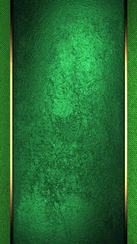 Green with Gold Trim Wallpaper | *Chrome, Textured, Steel ...