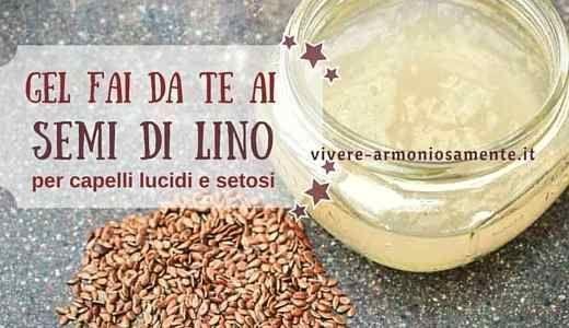 Il gel ai semi di lino regala capelli lucidi, morbidi e setosi. Per lucidare i capelli si può preparare il gel ai semi di lino in casa. Occorrono 30 gr..
