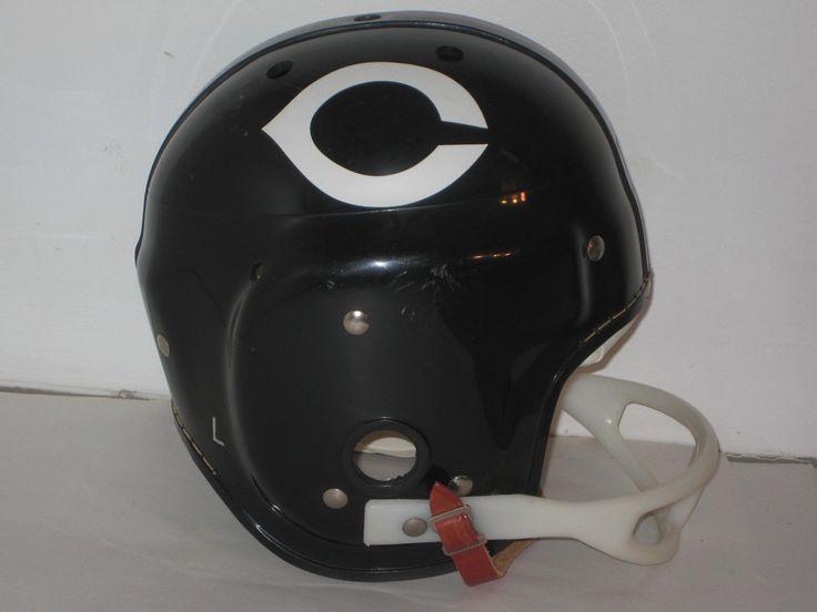 VINTAGE MACGREGOR NFL CHICAGO BEARS FOOTBALL HELMET SZ. L W/CHINSTRAP EX.