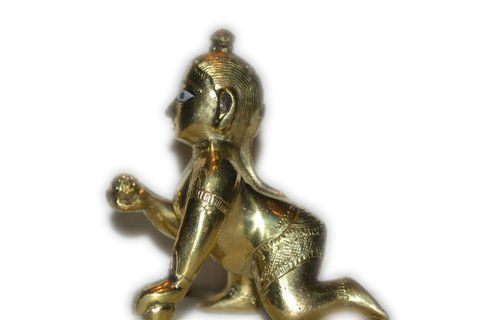 Laddu Gopal Brass Shining Metal