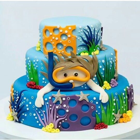 Cake | fundo do mar