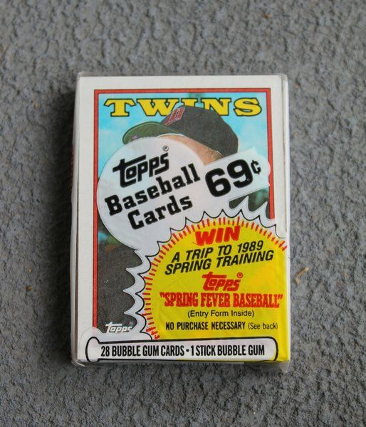 Baseball Cards, Topps, Twins, 1988, 28 Bubble Gum Cards, 1 Stick Bubble Gum, Collectibles