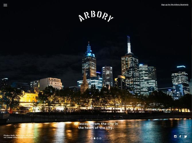 Arbory Bar & Eatery - Flinders Walk, Melbourne. An escape from the city in the heart of the city. Eat, Drink and #stayawhile'/