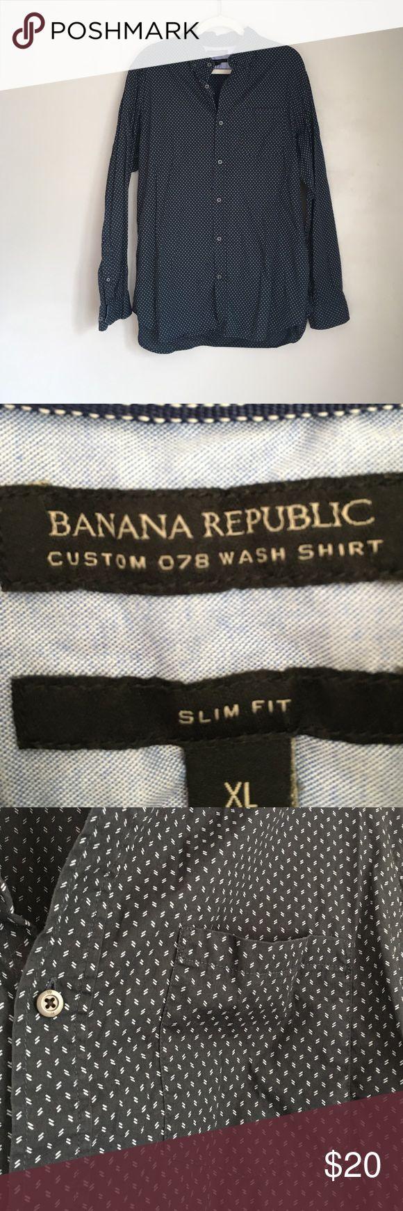 Banana Republic Men's Slim Fit Button Down Shirt Banana Republic Men's Slim Fit Button Down Shirt. Worn and washed. EUC Banana Republic Shirts Casual Button Down Shirts