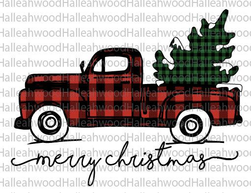 Christmas Truck- Plaid- Digital Design by halleahwood on Etsy https://www.etsy.com/listing/567271981/christmas-truck-plaid-digital-design
