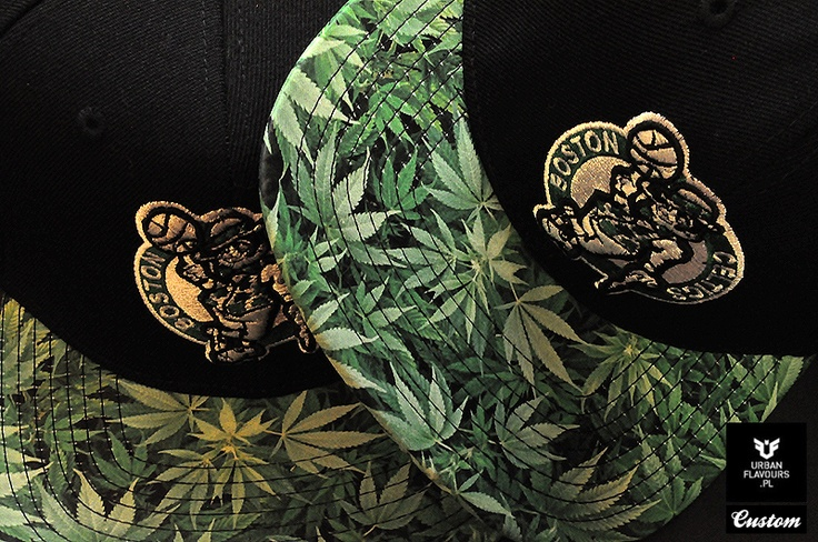 Boston Celtics Kush Custom MItchell And Ness Snapback