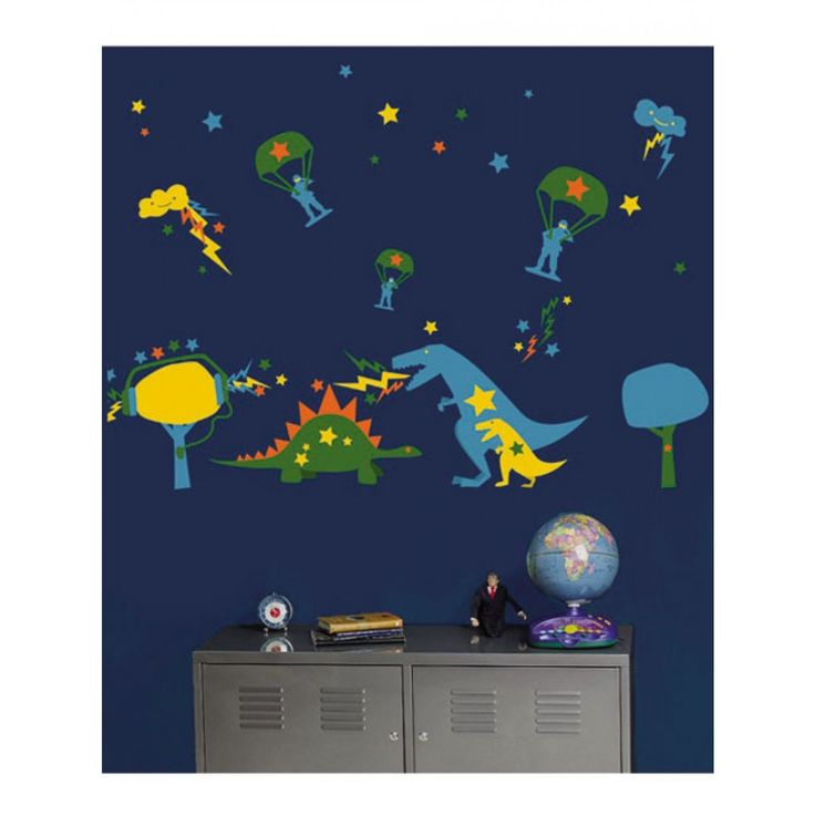 These fun Wallies Wall Candy Dyno Mite wall stickers are an innovative way to decorate nurseries, kids' rooms, play rooms, as well as those for teens and the young at heart.
