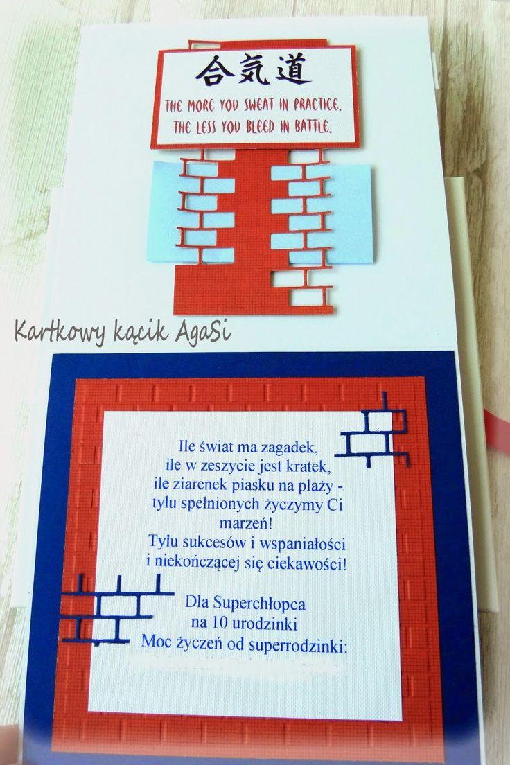 """Kartkowy kącik AgaSi: Dla chłopca na 10 urodziny - """"Karate Kid"""" :)"""