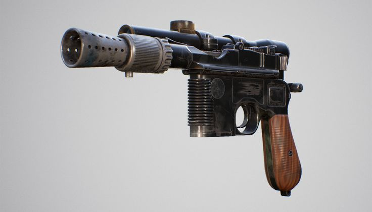 ArtStation - DL-44 Han Solo's Blaster, Alex Engelmann