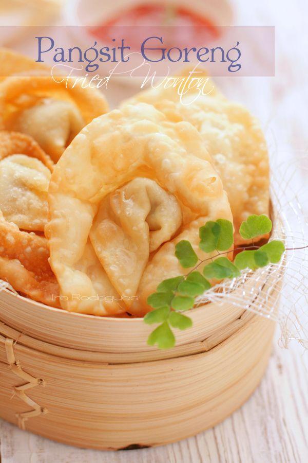 CookingTackle: Pangsit Goreng / Fried Wonton #Indonesian recipes #Indonesian cuisine #Asian recipes http://indostyles.com/