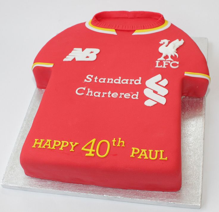 40th liverpool fc shirt   by Hannah Loves Cake