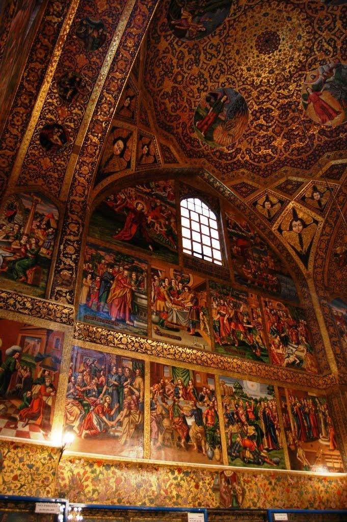 Amna Prkyj Vank Cathedral or church in Julfa district of Isfahan that was copied from the Church of Saint Stephanos in Julfa, Azerbaijan. The church is the church of Armenian history and was built by Shah Abbas. The Armenian Vank means monastery.