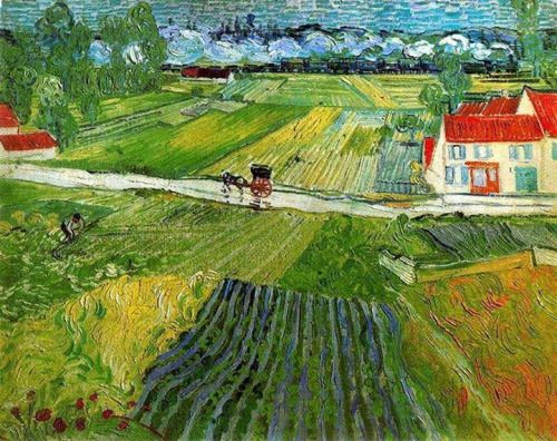 A Road in Auvers after the Rain 1890 - Vincent van Gogh